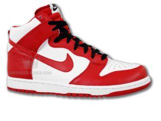 Nike Dunk High Weiss Rot Neu Gr 44 Schuhe Air Force 107 Mid One Leder