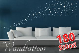Wandtattoo Sterne Set Wohnzimmer Kinderzimmer Aufkleber Sticker M001
