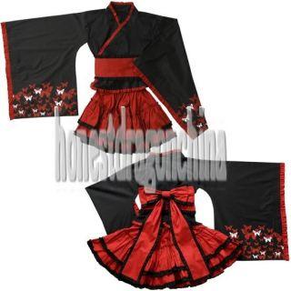 Gothic Lolita Kimono Cosplay Kleider Maßanfertigung Rot