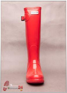 Hunter Gummistiefel Original Gloss Tall Pillar Box Red NEU Rot