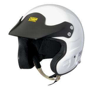 SC762 JET 7 HANS OPEN FACE HELMET M 57 59cm WHITE SNELL FIA APPROVED