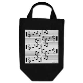 Music Scores Note Sheet Bag White 1