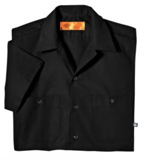 Dickies Mens Short Sleeve Work Shirt Classic BLACK NEW