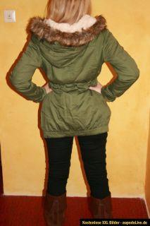 BLOGGER Oversize Vintage Parka Mantel Jacke XS S M 34 36 38 Fell