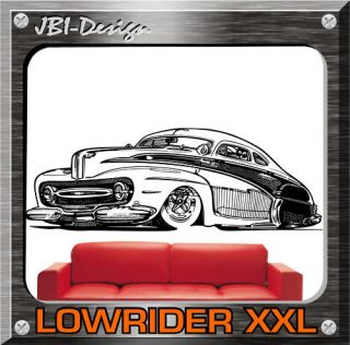 Wandtattoo Oldtimer Lowrider Hot Rod US Car 160X50 XXL
