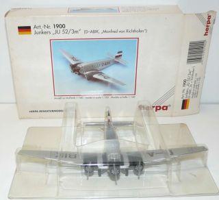 HERPA 1/160 019002 ++ Junkers JU 52/3M Manfred von Richthofen in OVP #