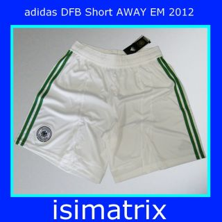 adidas DFB Deutschland Short EM 2012 weiß / grün Kinder   zum Trikot