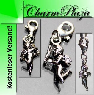 Charm Anhänger 925 Silber Engel Amor Liebe Bettel Armband Kette