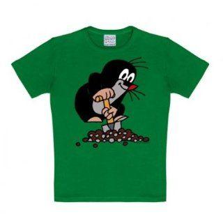 Logoshirt Kinder T Shirt grün 104/116 Sport & Freizeit