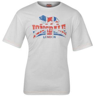 Lonsdale London Herren Classic T Shirt S M L XL XXL Tee rot schwarz