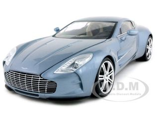 ASTON MARTIN ONE 77 LIGHT BLUE 118 DIECAST CAR MODEL