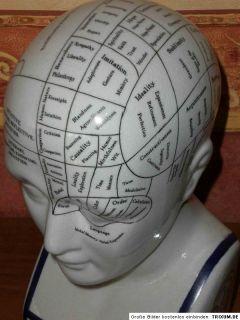 Büste Kopf aus Porzellan, Phrenologie L.N.Fowler, phrenologischer