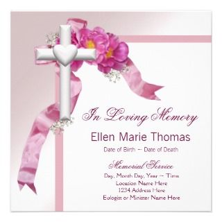 Memory Invitations, 166 In Loving Memory Announcements & Invites