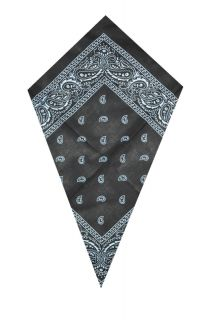 New Black Paisley Head/Neck Scarf Bandana ONLY £1.99