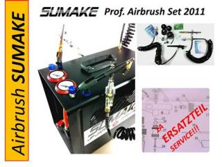 Sumake Airbrush Komplett Set Double Big Kompressor Set