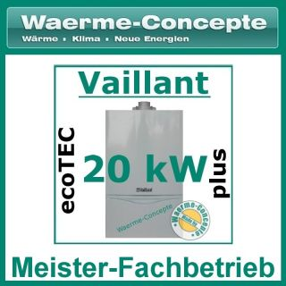 VAILLANT ecoTEC PLUS VC 196/3 5 15kW Gas Brennwert Therme Heizung