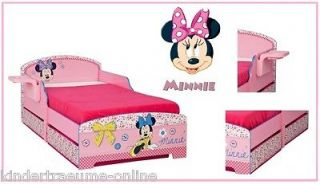 Disney Minnie Maus Bett Kinderbett Juniorbett 2 Bettkästen + Regal
