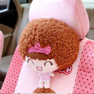 Mocmoc Girl Cartoon Car Seat Neck Rest Headrest Cushion Pillow Pink