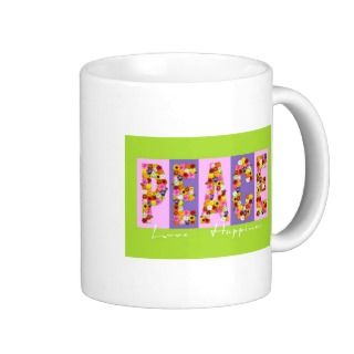 Peace, Love, Happiness Mug
