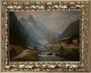 OIL PAINTING Flusslandschaft Hugo Thiele 188 2 Qualitaet zumTop Preis