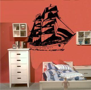 Wandtattoo Wandsticker 188 Segelschiff Windjammer