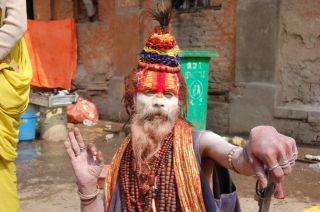 Schamenen Mala Kette Maha Shivaratri 2012 Arya Ghats der Toten Nepal