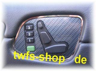 Mercedes W208 Chrom Rahmen Sitzschalter Edelstahl pol