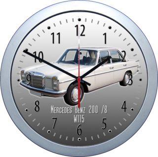 Klassische Wanduhr mit Motiv Mercedes Benz 200 /8 Uhr