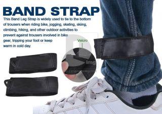 Cycling Bike Safety Bicycle Bind Pants Velcro Band Leg Strap Blue