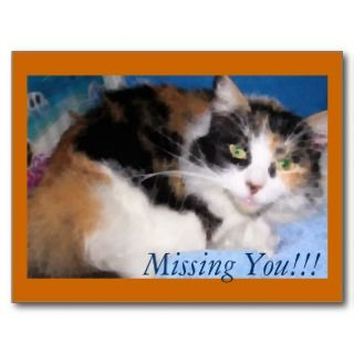 Macy girl oil painting, Missing You postcard