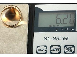GELEGENHEIT AUS PRIVATBESITZ #47 NEUWERTIGER RING GOLD 750 MIT 1