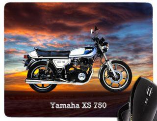 Mauspad / Mousepad mit Motiv Yamaha XS 750 weiss 197