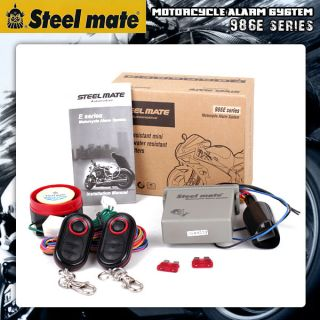 NEW STEELMATE Motorcycle Bike Alarm Remote Engine Start