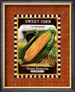 Sweet Corn Seed Pack Framed Giclee Print