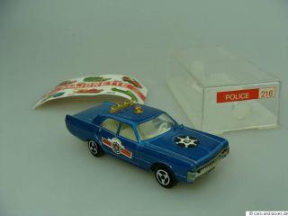 Majorette 216 Police Plymouth Fury 1/70 + Box PRöh