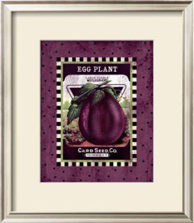 Eggplant Seed Pack Framed Giclee Print