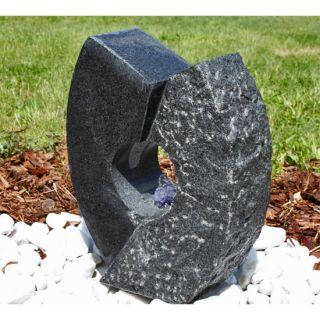 Granit Springbrunnen Gartenbrunnen mit LED Set Garten Brunnen
