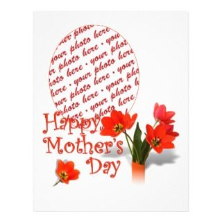 Red Tulip Photo Frame for a Happy Mothers Day Full Color Flyer