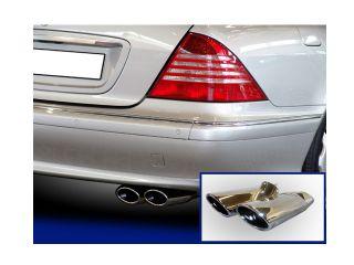 Endrohr Auspuffblende Mercedes W220 W 220 Auspuff Chrom