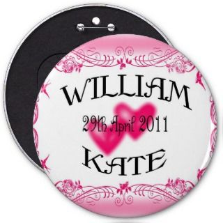 William & Kate Royal Wedding Collectibles Souvenir Pinback Button