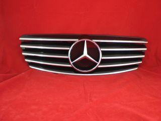 W211 S211 211 02 06 Mercedes E Kühlergrill grill Schwarz AMG look