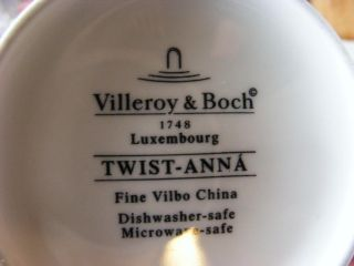 Villeroy & Boch TWIST ANNA Coffee Mug Cup Blue China White