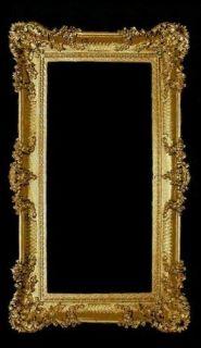 BAROCK Bilderrahmen REPRO Rechteckig Antik 96x57 GOLD FOTORAHMEN
