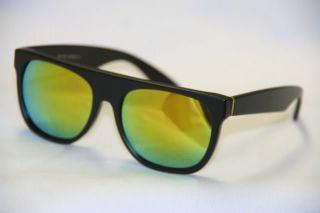 Sonnenbrille Flattop Super Transparent schwarz rot blau matt