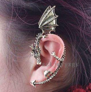 Gothic Punk Rock Temptation Metal Wrap Fly Dragon Ear Cuff Clip