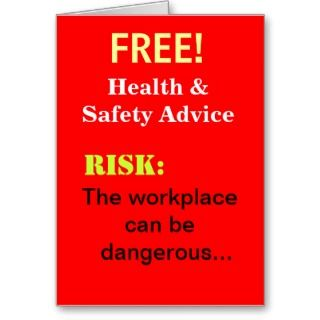 Free Funny Health and Safety Advice Add A Caption Cards