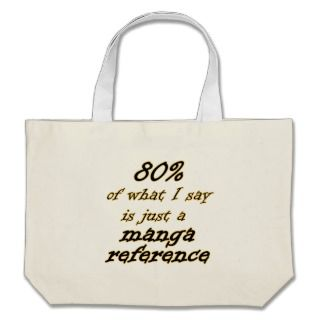 Manga Reference Joke Canvas Tote Bags