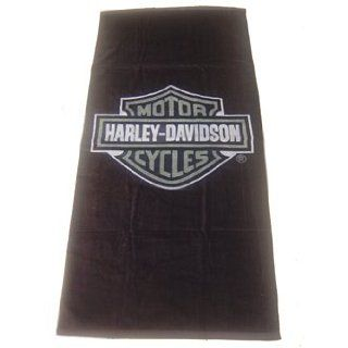 Harley Davidson Badetuch 76x152cm Graues Logo Küche