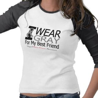 Brain Cancer I Wear Gray Ribbon For My Best Friend T Shirts