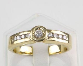 RING 585er Gold Brillanten 585 Gelbgold Damenring Herrenring